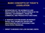 basic concepts of today s legislation