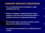 sanitary services concession