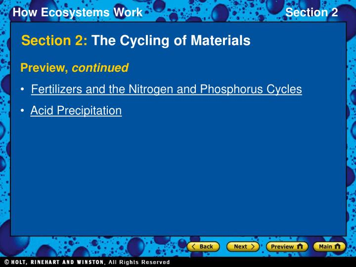 Section 2 the cycling of materials2
