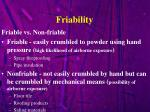 friability