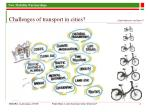 challenges of transport in cities and whatever are those
