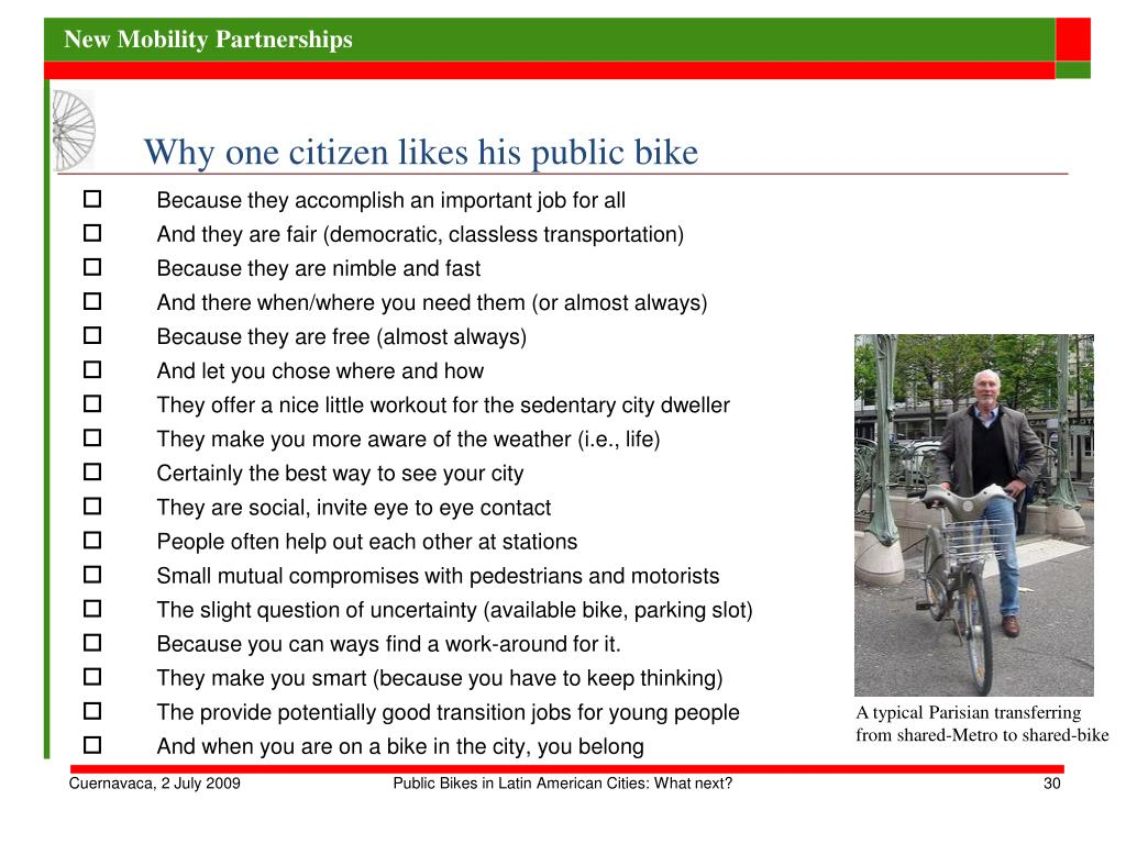 Why one citizen likes his public bike