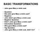 basic transformations