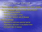 species barrier concept