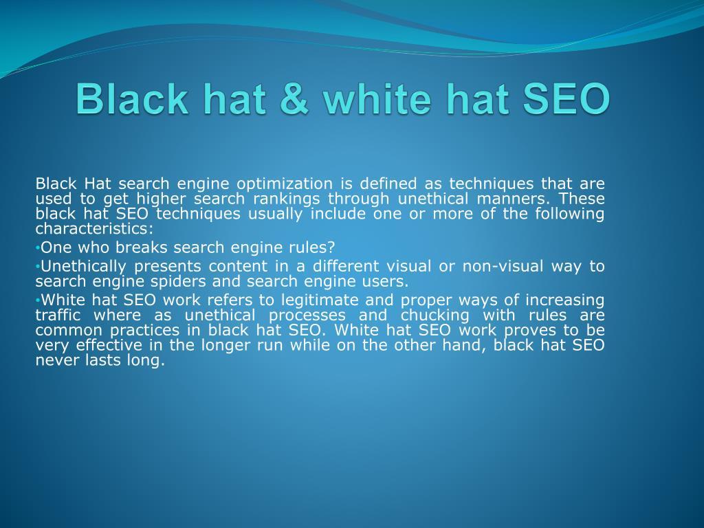 Black hat & white hat SEO