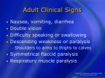 adult clinical signs