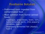 foodborne botulism