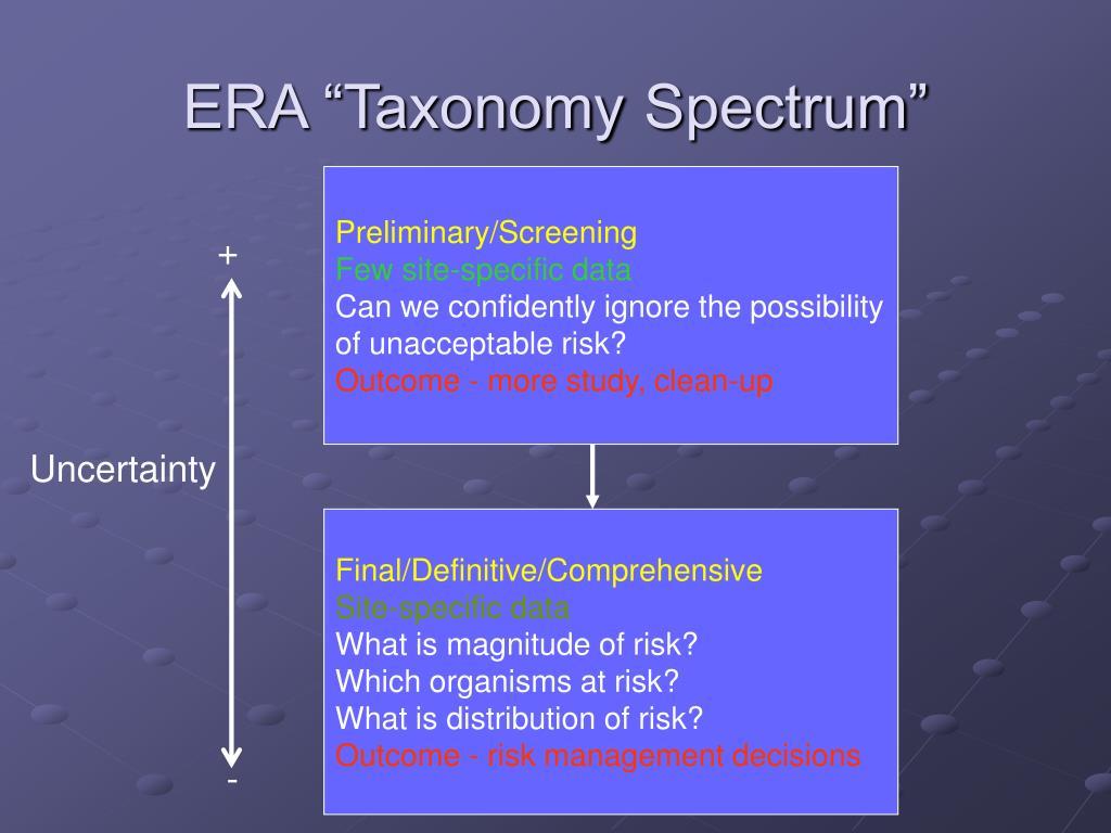 "ERA ""Taxonomy"