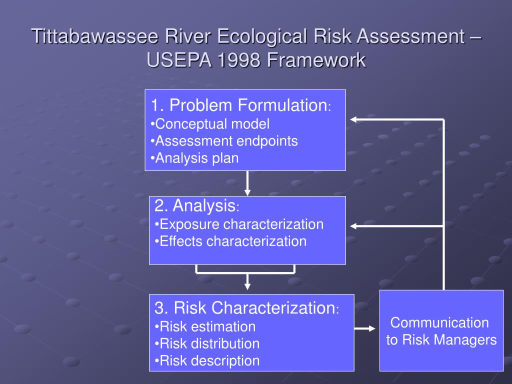 Tittabawassee River Ecological Risk Assessment – USEPA 1998 Framework