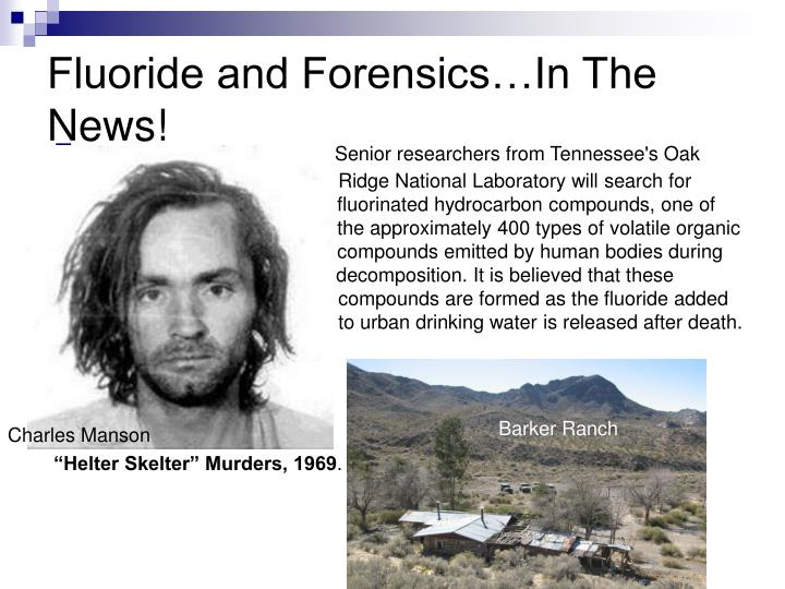 Fluoride and Forensics…In The News!