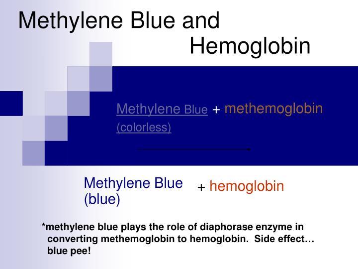 Methylene blue and hemoglobin