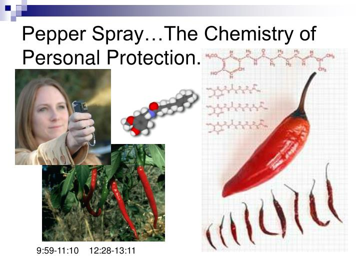 Pepper Spray…The Chemistry of Personal Protection.