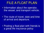 file a float plan