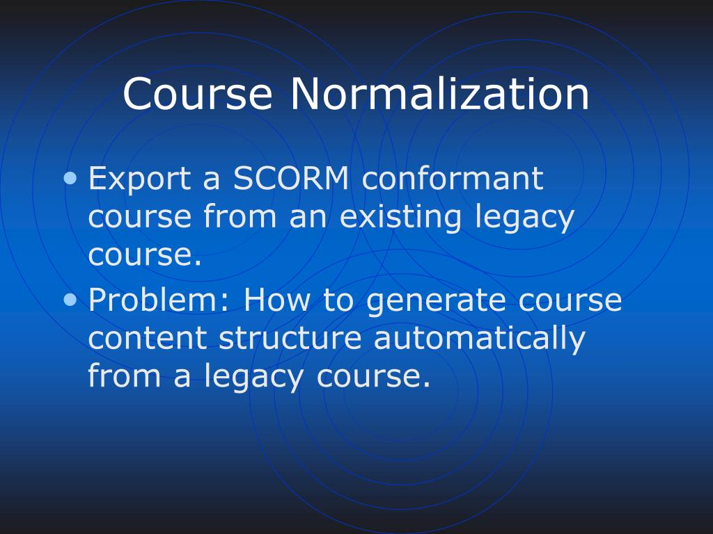 Course Normalization