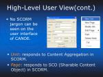 high level user view cont