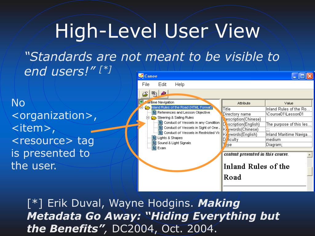 High-Level User View