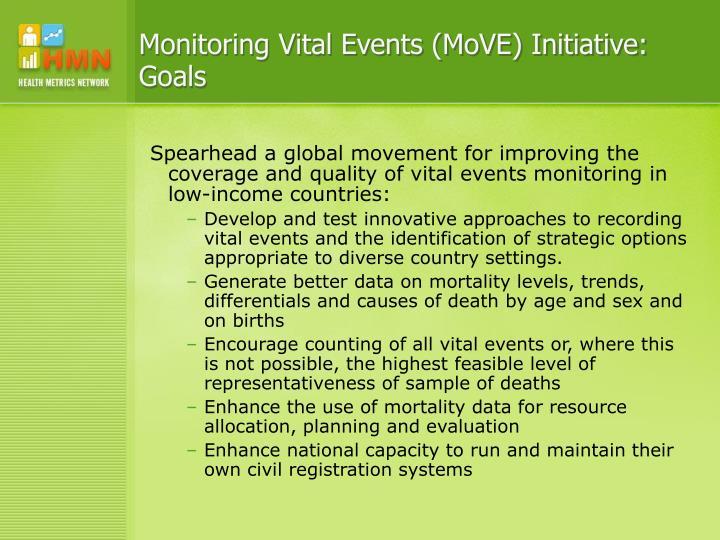 Monitoring Vital Events (MoVE) Initiative: