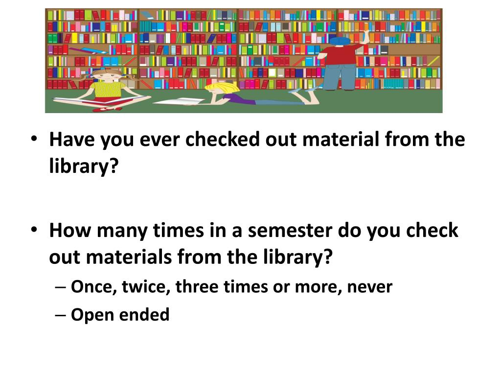 Have you ever checked out material from the library?