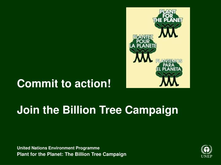 Commit to action!