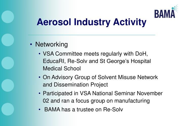 Aerosol Industry Activity