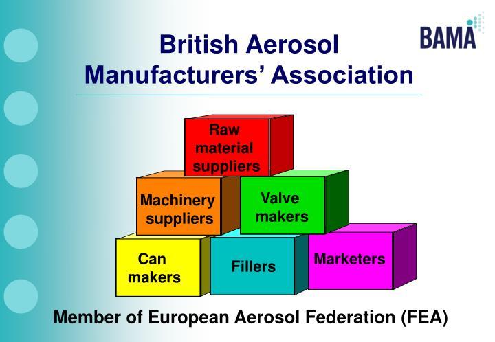 British aerosol manufacturers association