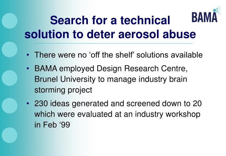 Search for a technical