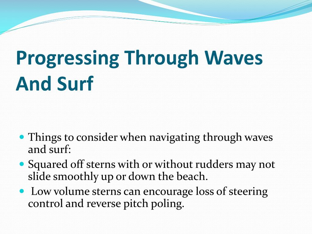 Progressing Through Waves And Surf