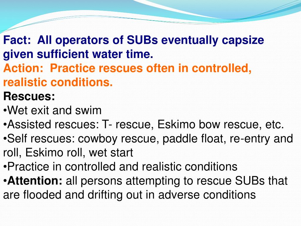Fact:  All operators of SUBs eventually capsize given sufficient water time.