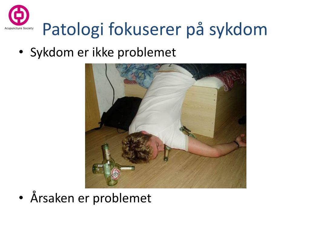 Patologi fokuserer på sykdom