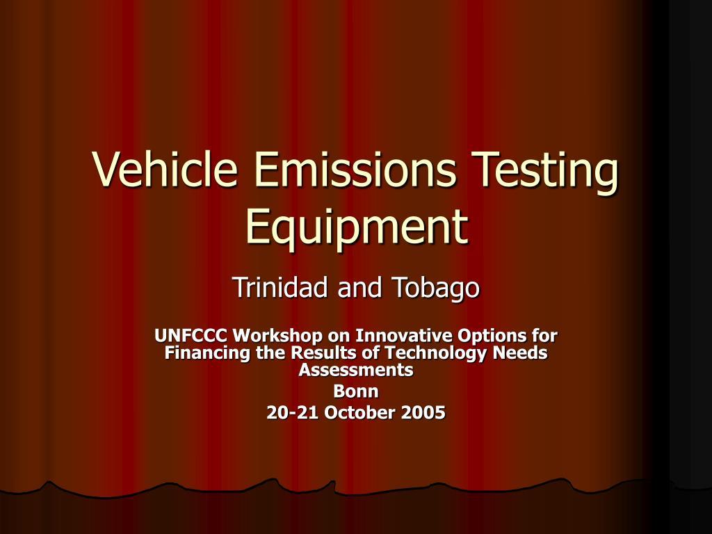 vehicle emissions testing equipment l.