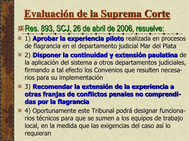 Evaluación de la Suprema Corte