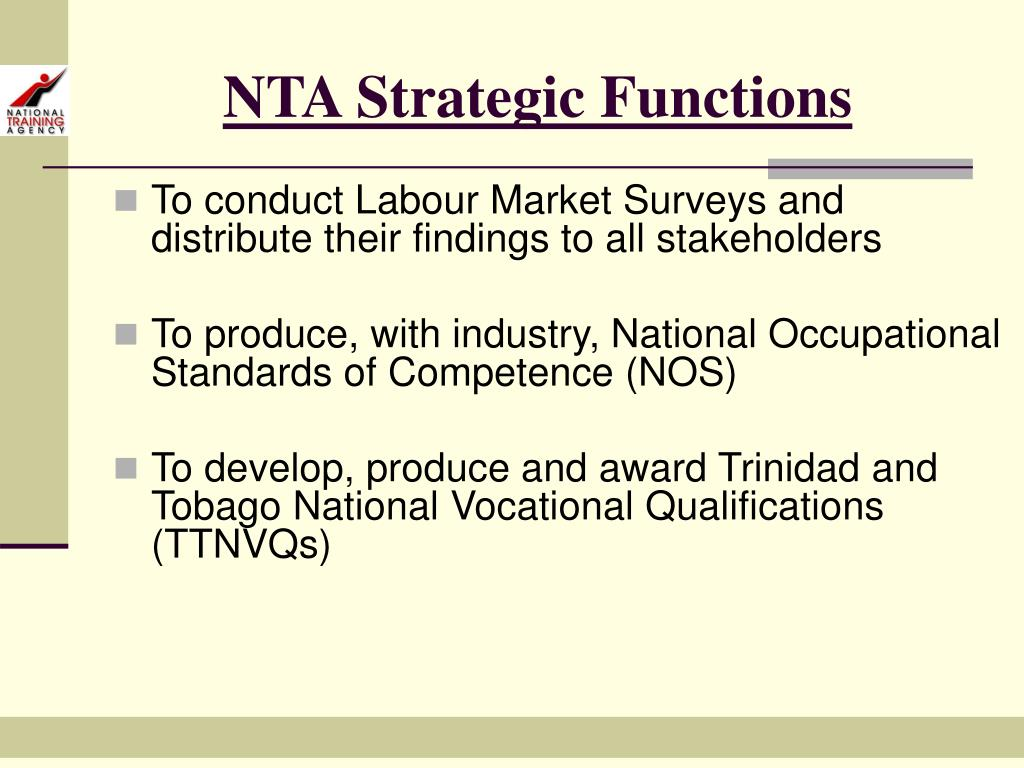 NTA Strategic Functions