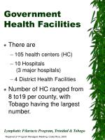 government health facilities