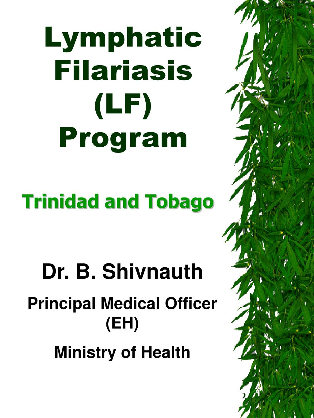 lymphatic filariasis lf program l.