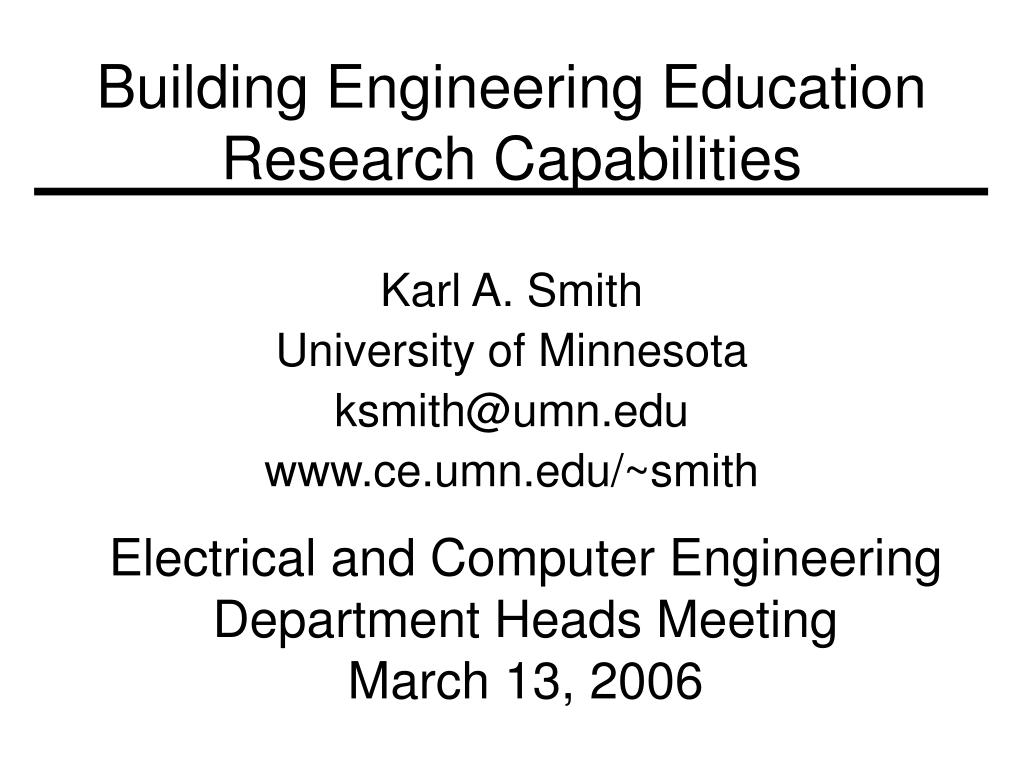 building engineering education research capabilities l.