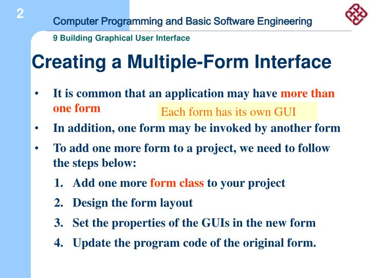 Creating a Multiple-Form Interface