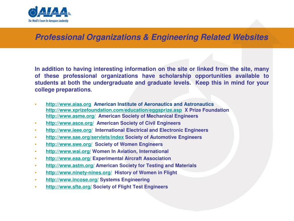 Professional Organizations & Engineering Related Websites
