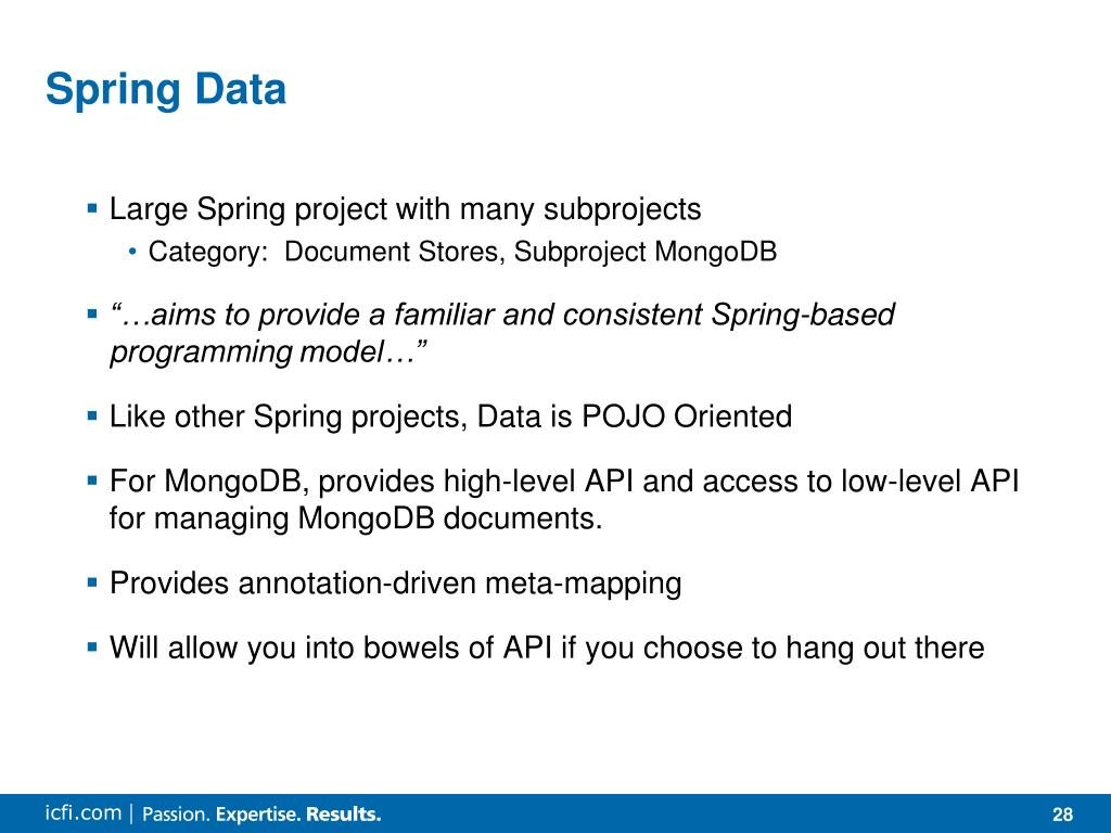 PPT - MongoDB and Spring Data PowerPoint Presentation - ID