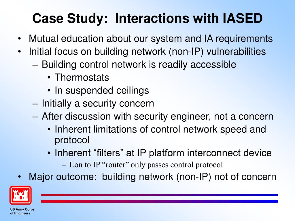 Case Study:  Interactions with IASED