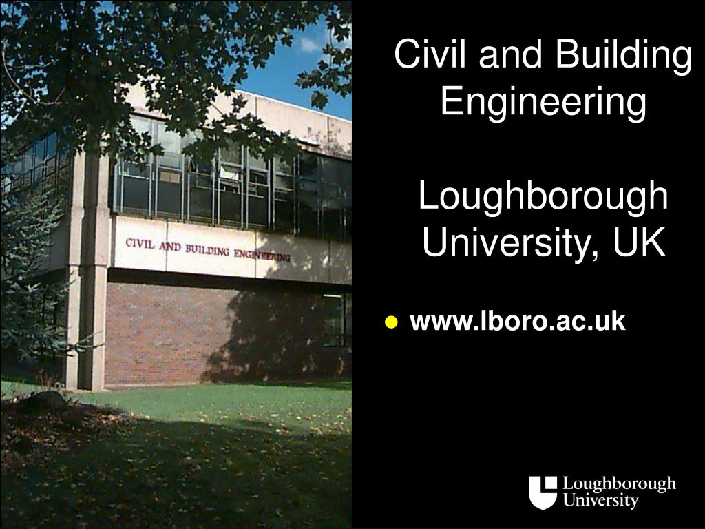 civil and building engineering loughborough university uk l.