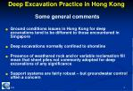 deep excavation practice in hong kong