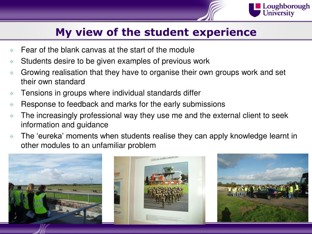 My view of the student experience