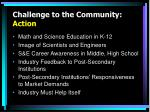 challenge to the community action