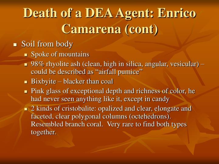 Death of a DEA Agent: Enrico Camarena (cont)