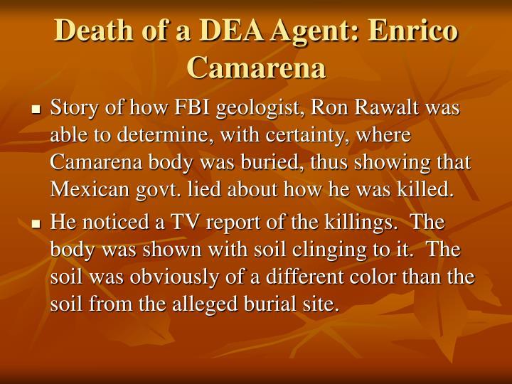Death of a DEA Agent: Enrico Camarena
