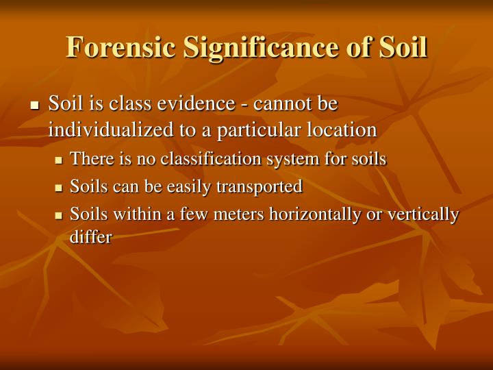 Forensic Significance of Soil