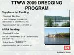 ttww 2009 dredging program