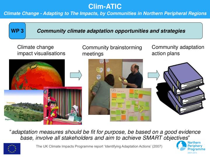 Community climate adaptation opportunities and strategies