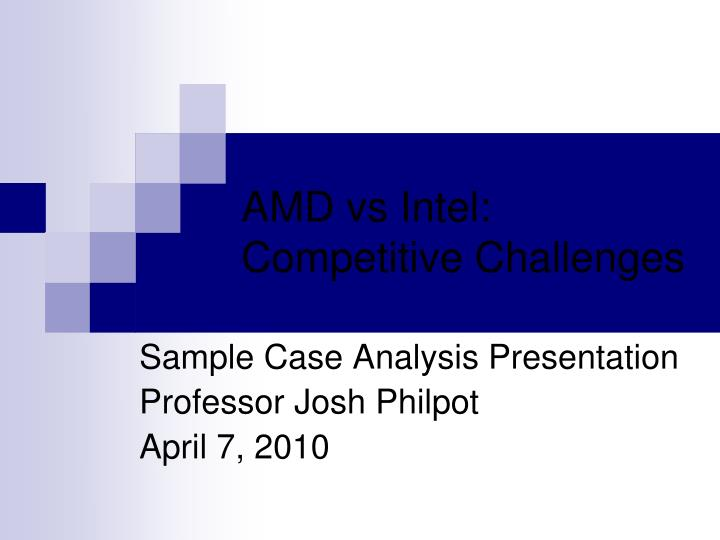 amd vs intel competitive challenges n.