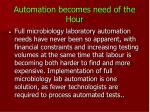 automation becomes need of the hour